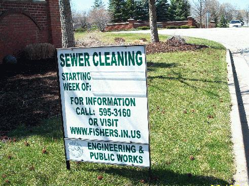 sewer sign