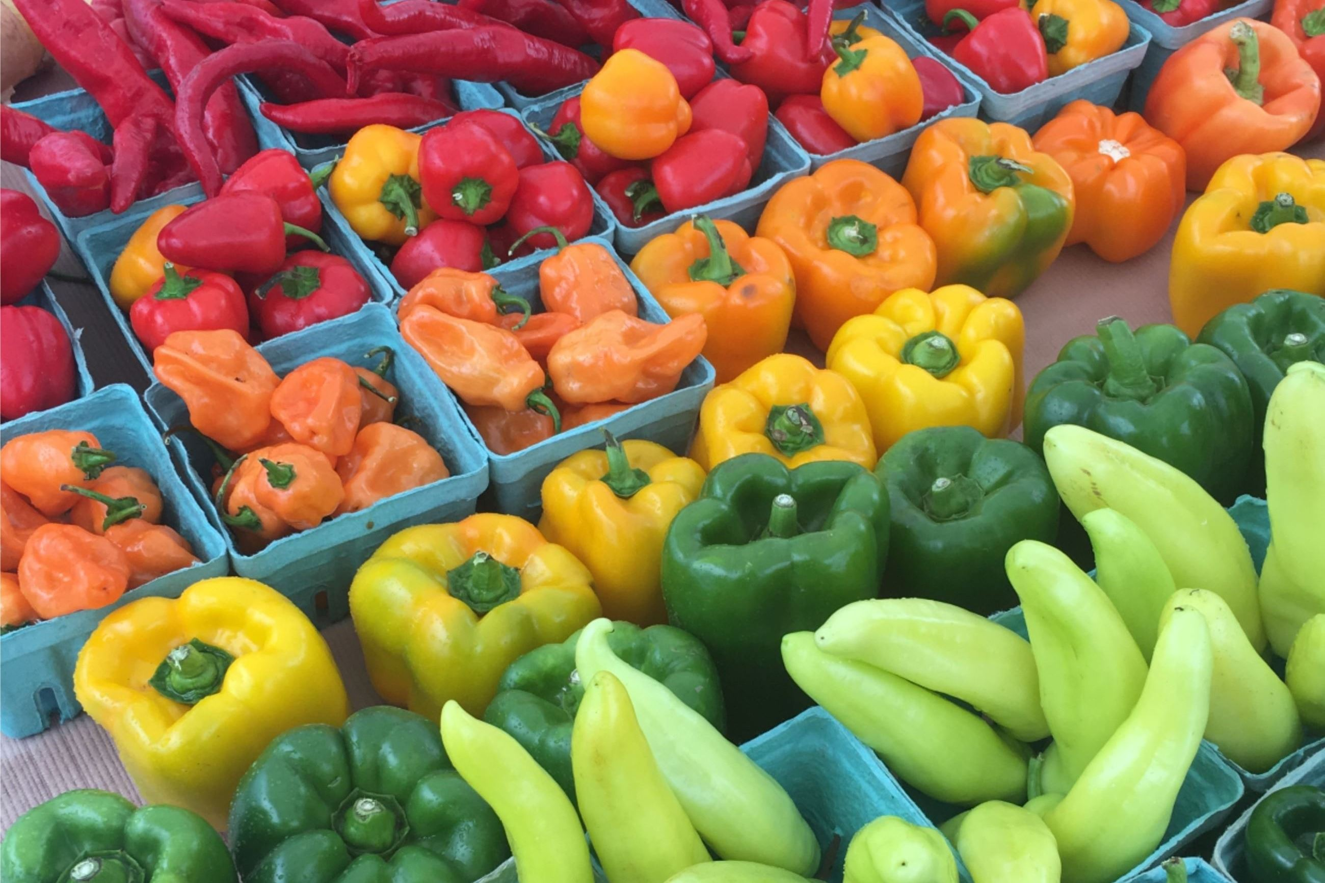 peppers at farmers market