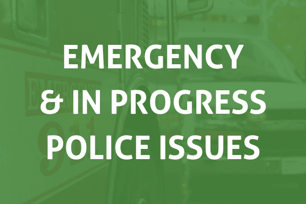 EMERGENCY AND IN PROGRESS POLICE ISSUES
